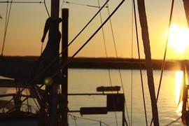 Segeltörn Sonnenuntergang Segelyacht
