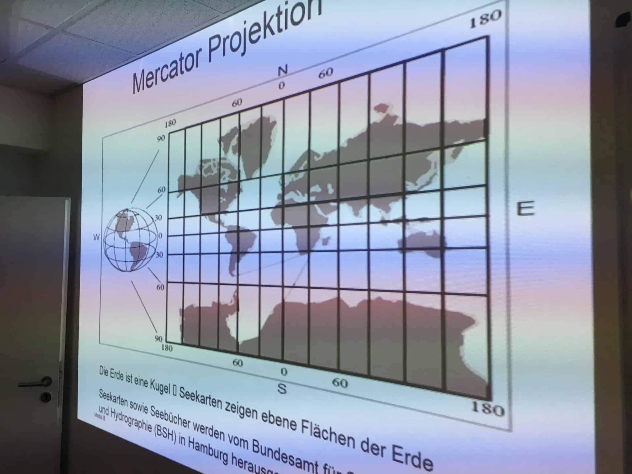 Mercator Projektion Bootsführerschein