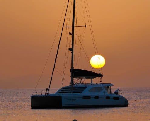 Sunset yacht BVI