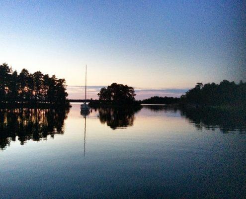 Mitternachts Sonne in Schweden