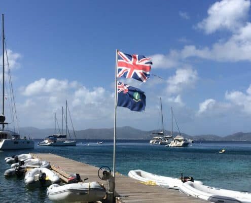 BVI British Virgin Islands am Peer