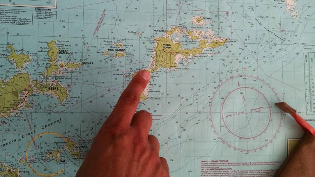 Seekarte Navigation British Virgin Islands