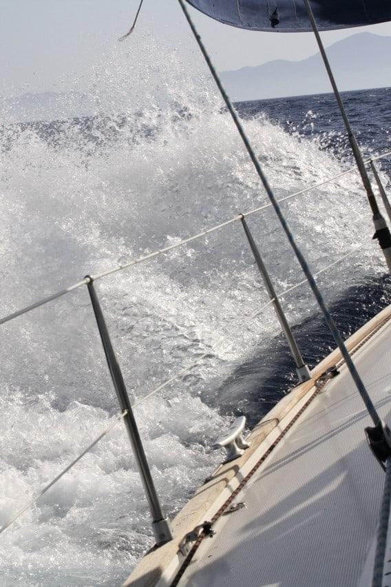 Backbordbug am Wind